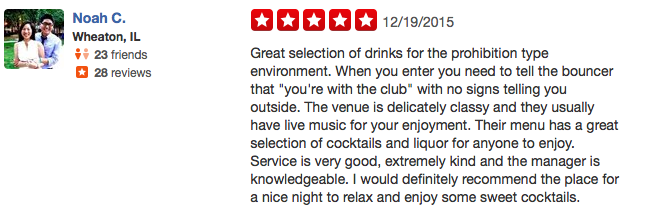 5-Star Yelp Review: Great Selection